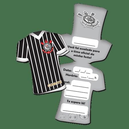 Convite de Aniversário Camisa Corinthians - 08 unidades - Lojas Brilhante df35792dc4237