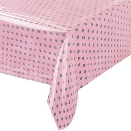 toalha-plastica-perolada-poa-rosa-marrom-lojas-brilhante