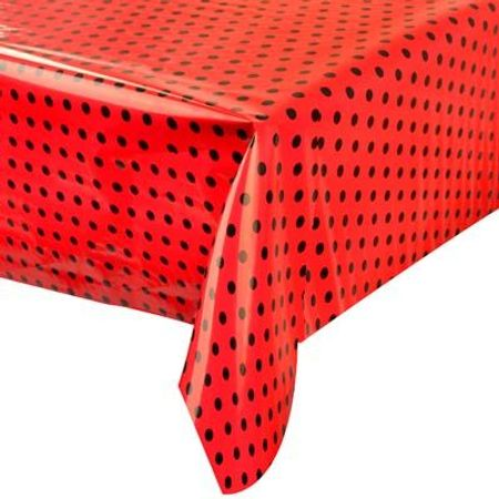 toalha-plastica-perolada-poa-vermelha-preto-lojas-brilhante