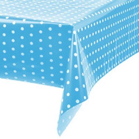 toalha-plastica-perolada-poa-azul-claro-branco-lojas-brilhante