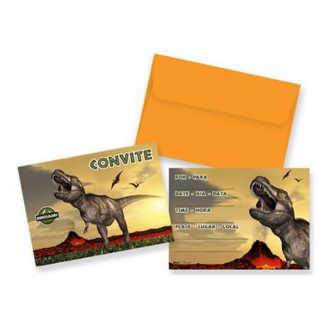 convite-dinossauros-lojas-brilhante