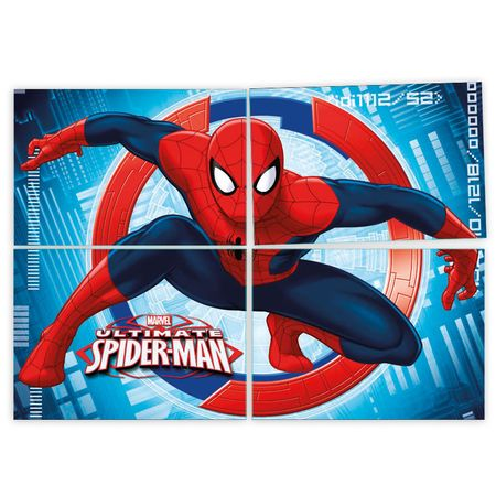 painel-4-laminas-homem-aranha-lojas-brilhante