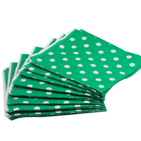 guardanapo-de-papel-verde-poa-branco-lojas-brilhante