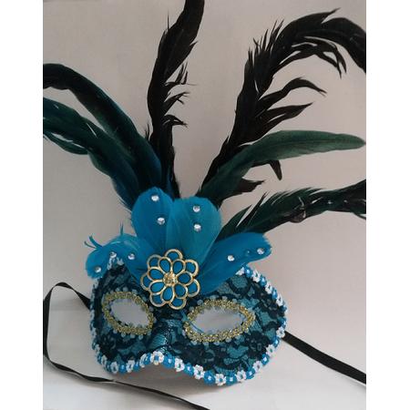 mascara-com-penas-azul-lojas-brilhante