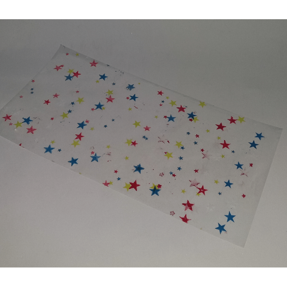 703627137 Saco de Celofane Estampado Estrelas Coloridas 15cm x 30cm - 50 unidades -  Lojas Brilhante