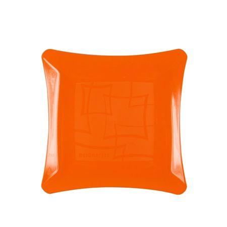 prato-acrilico-quadrado-laranja-neon-16cm-lojas-brilhante