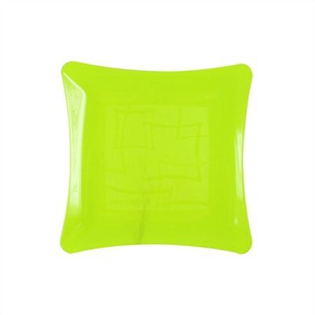 prato-acrilico-quadrado-amarelo-neon-16cm-lojas-brilhante