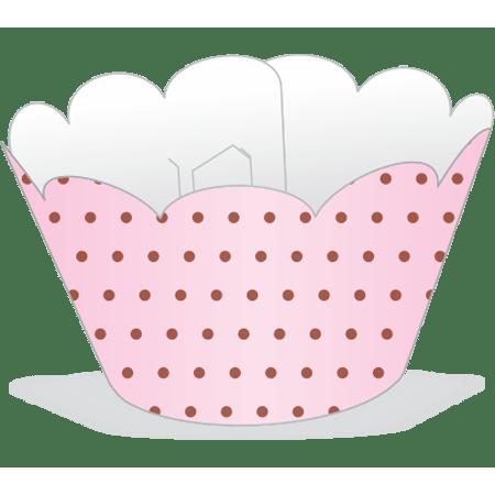 saia-para-cupcake-rosa-poa-marrom-lojas-brilhante