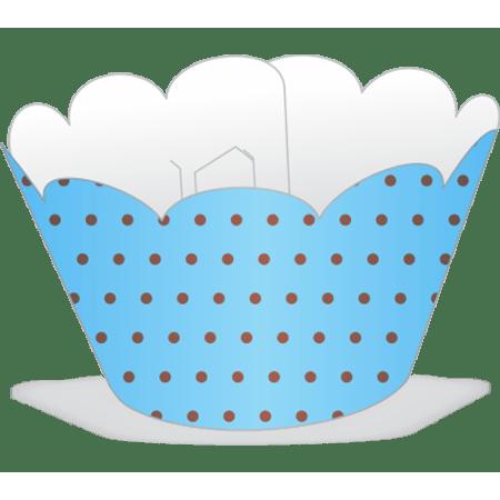 saia-mini-cupcake-azul-poa-marrom-lojas-brilhante