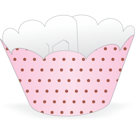 saia-mini-cupcake-rosa-poa-marrom-lojas-brilhante