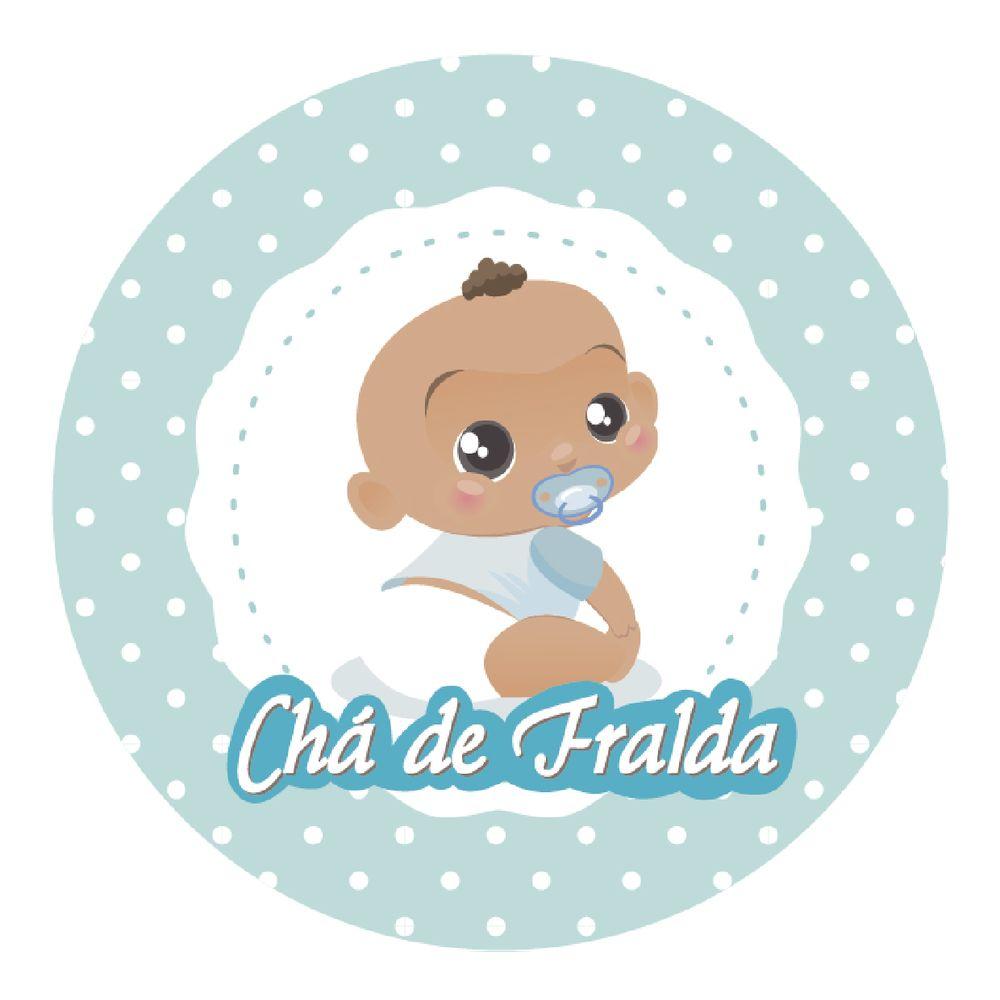 Feira Artesanal Vila Do Conde ~ Adesivo p Lembrancinha Redondo Chá de Fralda Menino 10 unidades Lojas Brilhante