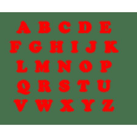 letras-vermelhas-eva-lojas-brilhante