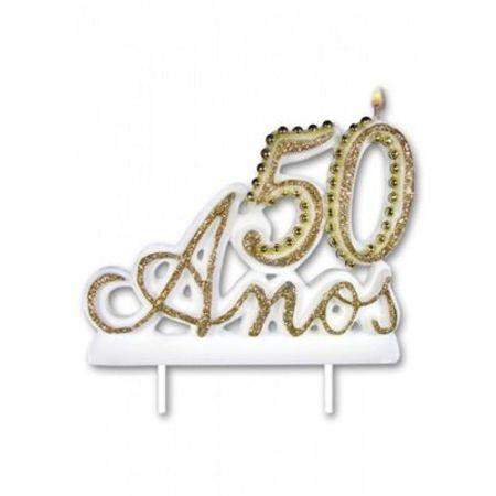 vela-50-anos-luxo-branca-lojas-brilhante