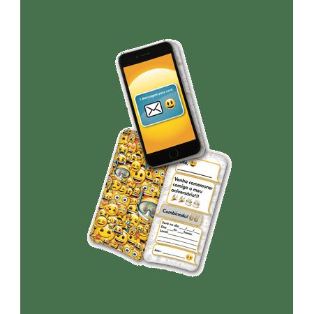 convite-de-aniversario-emoji-lojas-brilhante