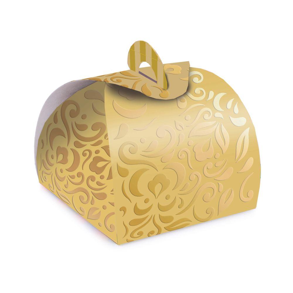 e5f0a85d4 Caixa para Bem Casado Alto Relevo Dourada - Lojas Brilhante