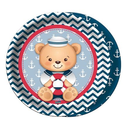 prato-descartavel-ursinho-marinheiro-lojas-brilhante