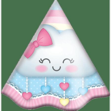 chapeu-de-aniversario-chuva-de-amor-festcolor-8-unidades
