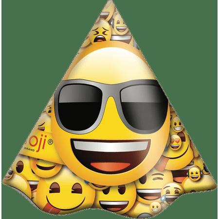 chapeu-de-aniversario-emoji-festcolor-8-unidades