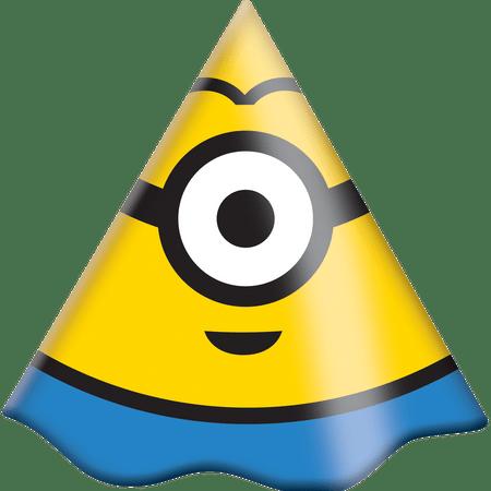chapeu-de-aniversario-minions-festcolor-8-unidades