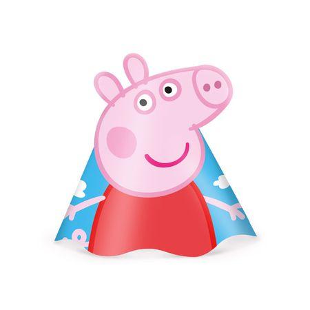 chapeu-de-aniversario-peppa-pig-regina-8-unidades