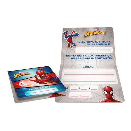 convite-de-aniversario-homem-aranha-regina-8-unidades