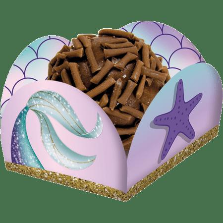 porta-forminha-para-doces-sereia-festcolor-40-unidades