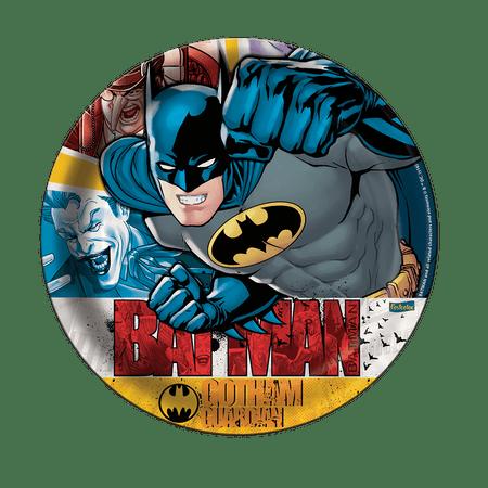 prato-descartavel-batman-festcolor-8-unidades