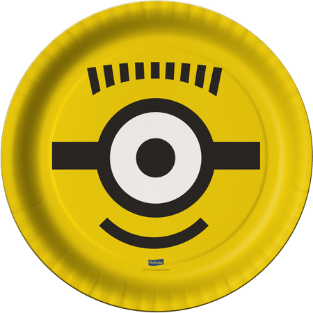 prato-descartavel-minions-festcolor-8-unidades