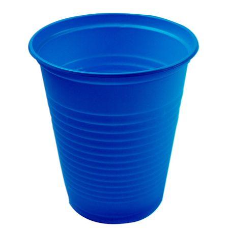 Copo-Plastico-Descartavel-Azul-Escuro-200ml-50-unidades