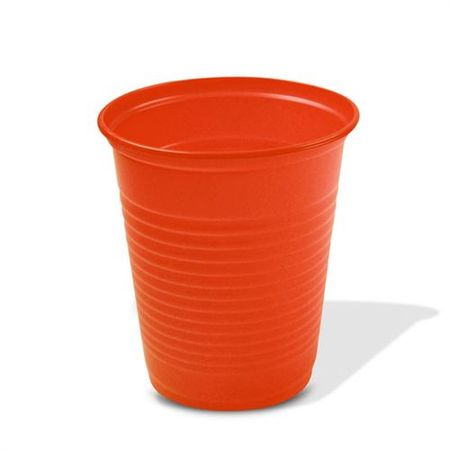 Copo-Plastico-Descartavel-Laranja-200ml-50-unidades