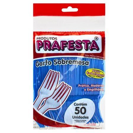 Garfo-de-Sobremesa-Azul-Descartavel-50-unidades