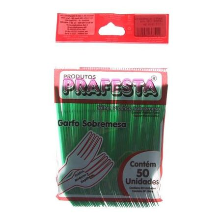 Garfo-de-Sobremesa-Verde-Descartavel-50-unidades