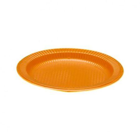 prato-descartavel-raso-15cm-laranja-10-unidades