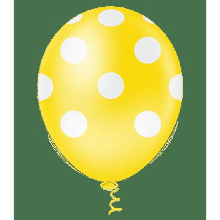 balao-pic-pic-n10-amarelo-poa-branco-25-unidades