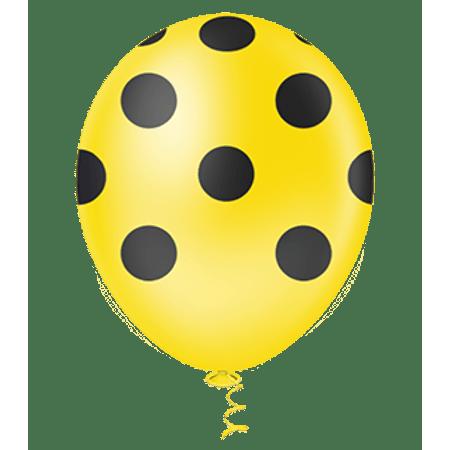 balao-pic-pic-n10-amarelo-poa-preto-25-unidades