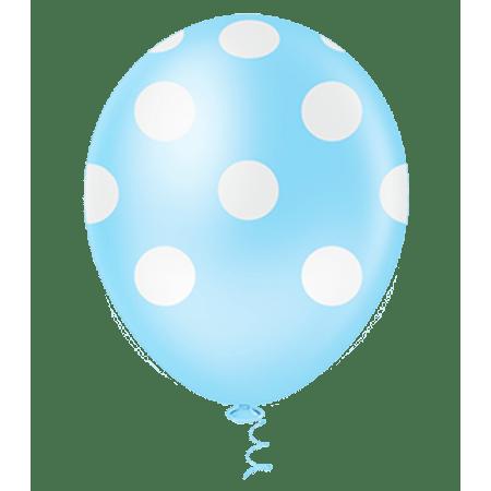 balao-pic-pic-n10-azul-claro-poa-branco-25-unidades