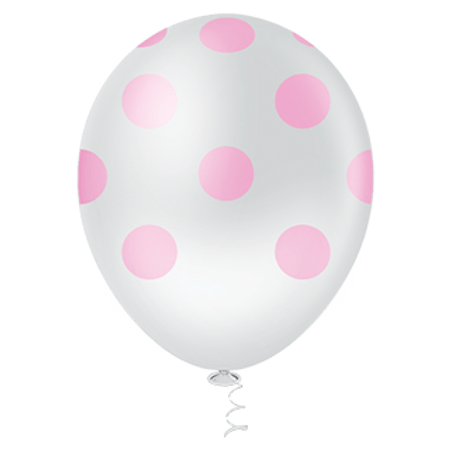 balao-pic-pic-n10-branco-poa-rosa-25-unidades