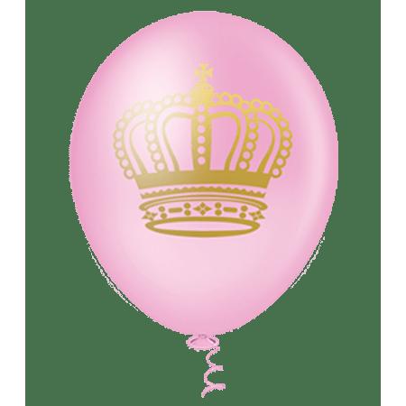 balao-pic-pic-n10-coroa-rosa-dourado-25-unidades