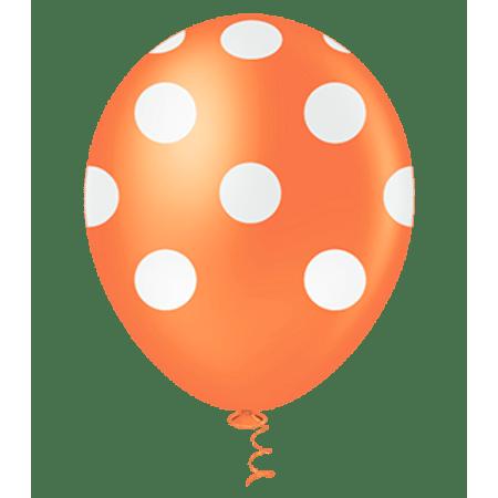 balao-pic-pic-n10-laranja-poa-branco-25-unidades