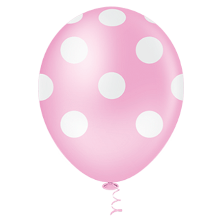 balao-pic-pic-n10-rosa-poa-branco-25-unidades