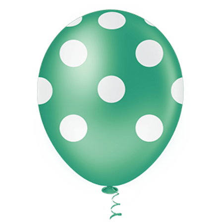 balao-pic-pic-n10-verde-poa-branco-25-unidades