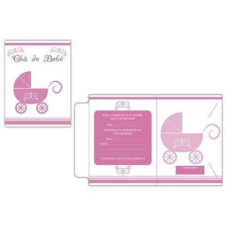 convite-cha-de-bebe-carrinho-rosa-10-unidades