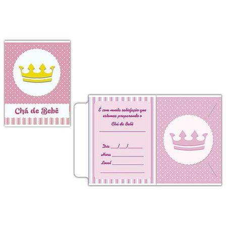 convite-cha-de-bebe-coroa-rosa-10-unidades