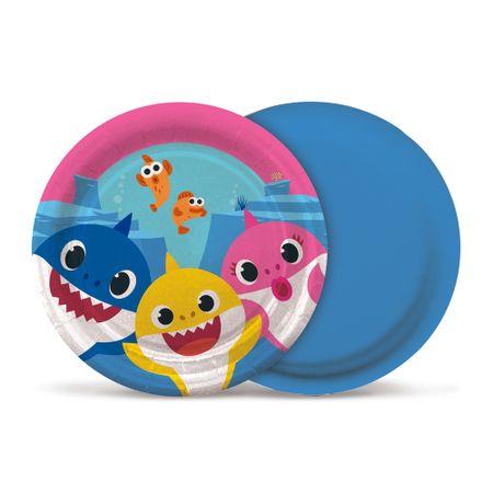 prato-descartavel-baby-shark-cromus-8-unidades