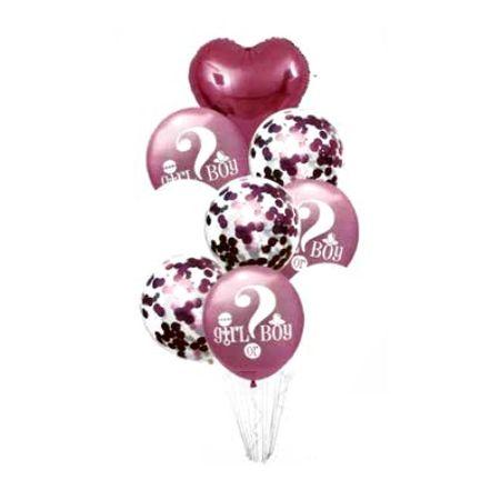 bouquet-baloes-9-pecas-cha-revelacao-rosa