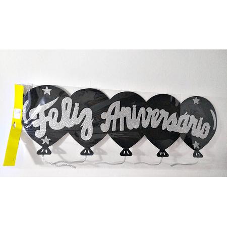 faixa-feliz-aniversario-preta-com-prata-glitter