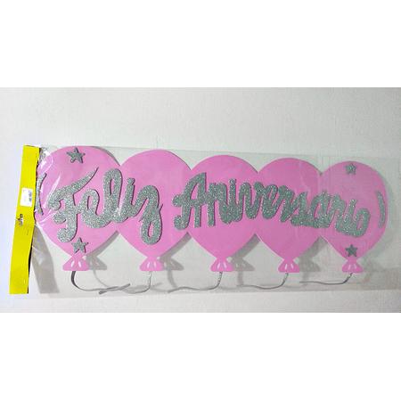 faixa-feliz-aniversario-rosa-com-prata-glitter