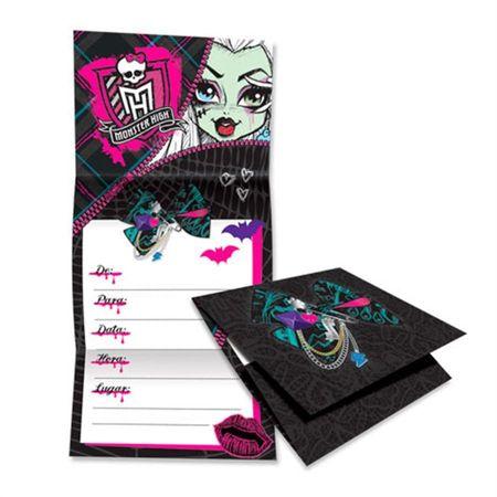 Convite-de-Aniversario-Monster-High-Teen-08-unidades-Regina-Festas